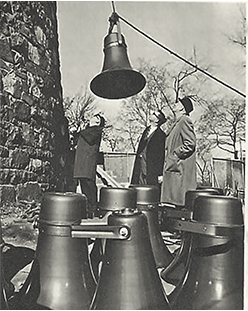On October 27, 1966, the Carillon's Stentors amplification system was installed at the top of the Tour de Lévis near the United States Pavilion on Île Sainte-Hélène.